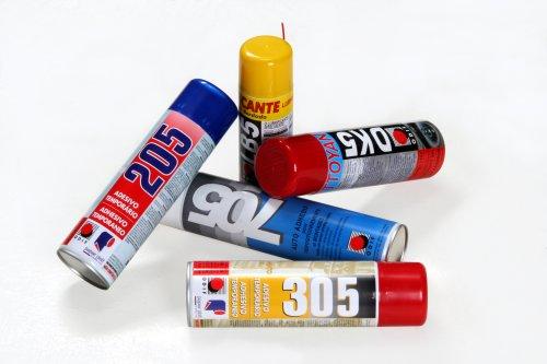 Sprays Adesivos temporários para confecção - limpador, silicone, óleo lubrificante p/maq.de bordado